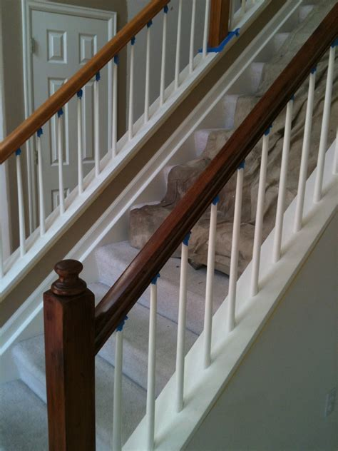 Refinishing Stair Banister by Gel Staining Glazing To Darken Wood Cabinets Or Doors Drcustompainting