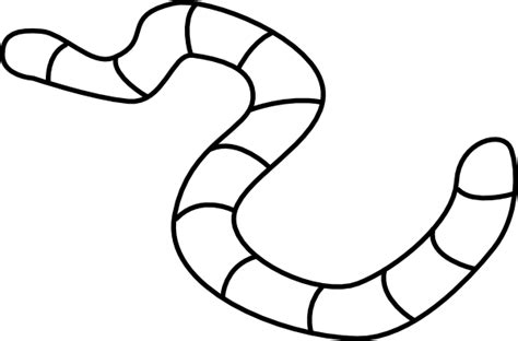 printable worm templates image gallery earthworm outline