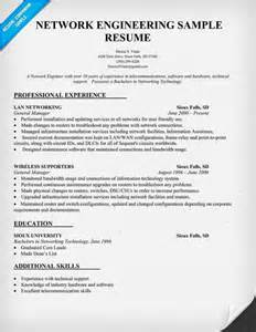Resume Format For Hardware And Networking Engineer Network Engineering Resume Sample Resume Prep
