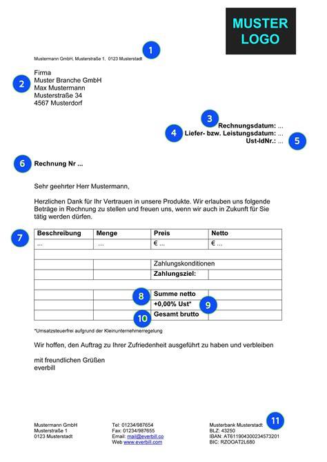 Muster Rechnung Handwerker Musterrechnung Handwerk Kostenlos Herunterladen Everbill