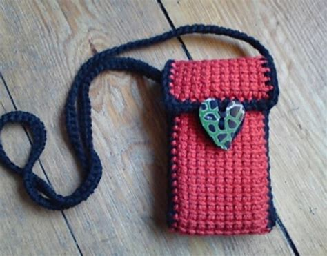 crochet mobile bag pattern cell phone bag purse crochet purses and bags pinterest