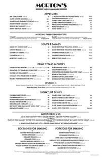 S Steakhouse Menu Morton S The Steakhouse In Atlantic City Popfeeder