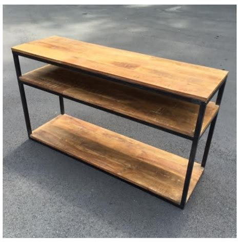 iron and wood console table iron and wood console table nadeau alexandria