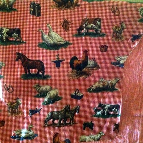 retro upholstery fabric australia vintage kitsch farmyard animals fabric offcut remnant
