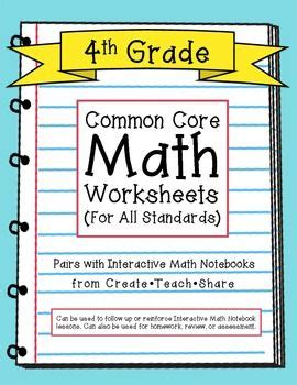 core maths for a level 3rd edition by l bostock s chandler common core math worksheets for all 4th grade standards