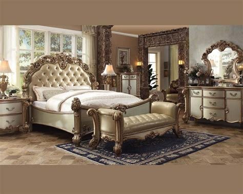 acme bedroom furniture bedroom set vendome gold by acme furniture ac23000set