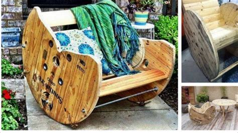 Cable Reel Rocking Chair by Spool Rocking Chair