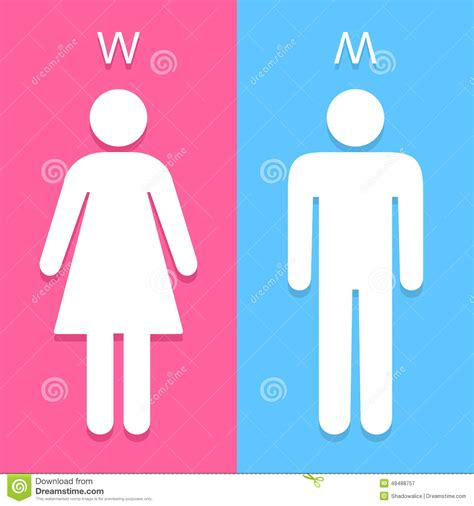 men and women bathroom symbols men and women toilet sign great for any use vector eps10