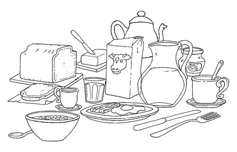 Breakfast Coloring Pages Pictures To Colour Uk by Breakfast Coloring Pages