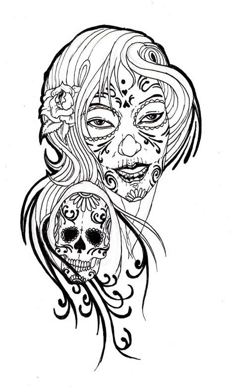 adult tattoo pics coloring pages coloring pages for sugar skull