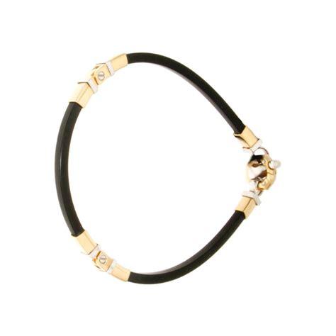 bracelet unisex baraka soft rubber gold 18kt