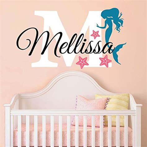 Personalized Name Wall Decals For Nursery Nursery Mermaid Personalized Custom Name And Initial Wall Decal Sticker Name Wall Decal