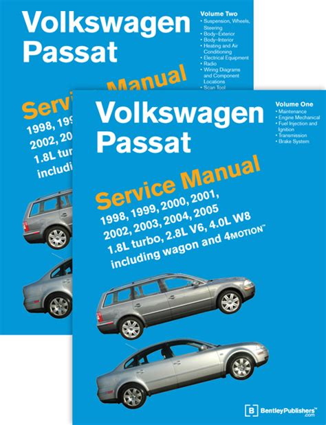 Front Cover Vw Volkswagen Passat Service Manual 1998