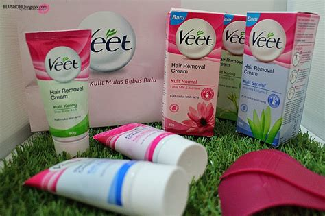 New Veet Penghilang Bulu without razor with new veet hydro restor blushoff