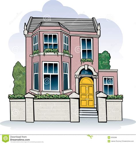 royalty house victorian house stock vector illustration of street house 9359288