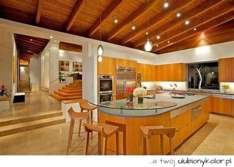 beautiful house interior view of the kitchen obrazek piękna kuchnia drzewo drewno nowoczesna