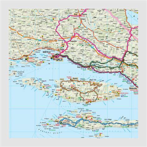 Motorradtouren In Slowenien by Motorrad Tourenkarten Set Kroatien Slowenien Im Motoport