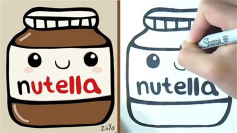 imagenes kawaii de nutella drawn nutella kawaii pencil and in color drawn nutella