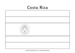 costa rica colouring flag