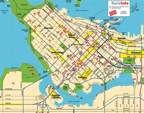 map of vancouver vancouver bc canada map