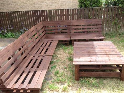 Pallet Patio Furniture Plans Diy Pallet Sectional Sofa And Table Ideas Pallet Furniture Plans