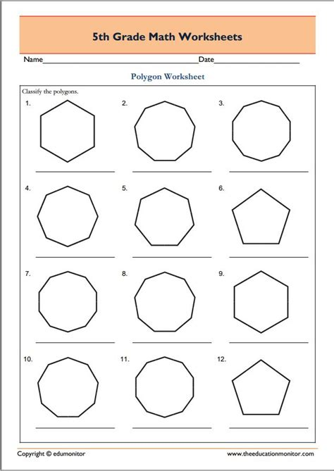 Fifth Grade Worksheets by Geometry Worksheets For 5th Grade Lesupercoin Printables
