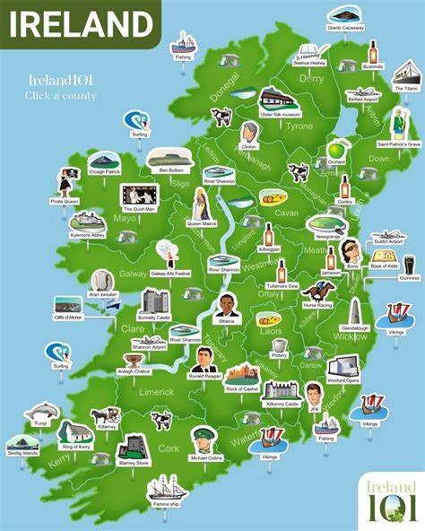 the list 101 places to see in ireland before you die books map of ireland ireland
