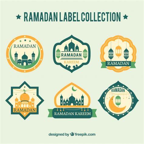 printable eid stickers retro ramadan stickers collection vector free download