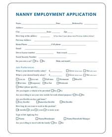 nanny contract template word nanny application templates 6 free word pdf document free premium templates