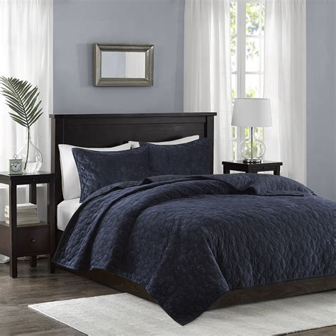 madison park coverlet madison park harper velvet 3 piece coverlet set ebay
