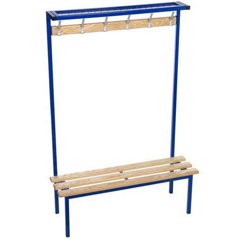 cloakroom bench evolve solo cloakroom bench with mesh top shelf ese direct