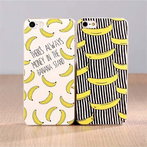 Fruit For Iphone 4 4s 5 5s Se 6 6s 6 7 9 fruit banana fashion plastic cover for apple