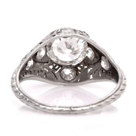 deco filigree engagement rings deco 2 77 carat platinum filigree engagement ring at 1stdibs