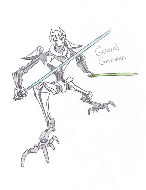 star wars general grievous coloring pages www imgkid com