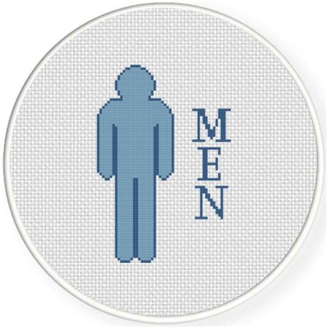 bathroom cross stitch patterns free men bathroom sign cross stitch pattern daily cross stitch