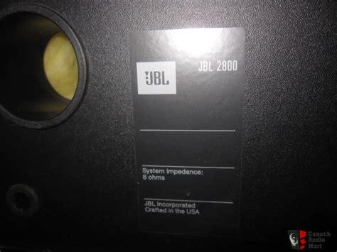 Advance M260 Speaker pair jbl 2800 speakers black photo 680621 canuck audio mart