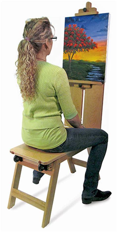 bench easel martin universal design wood mobile bench easel blick art materials