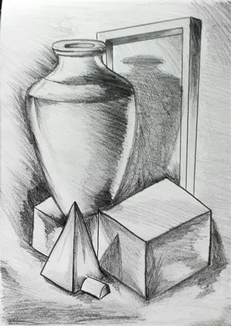 Sketches With Shading by 3d Objects Drawing With Pencil Drawing Artistic