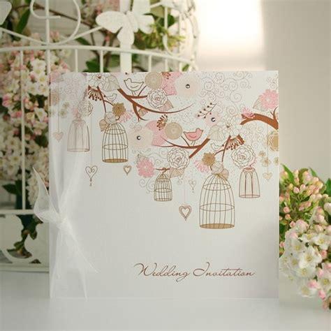 birds wedding invitations uk birds and bird cages country garden wedding invite