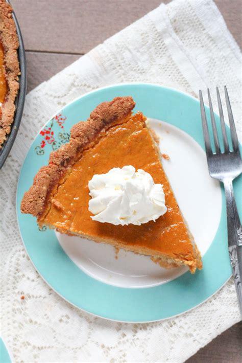 gluten free pumpkin pie veggiebalance