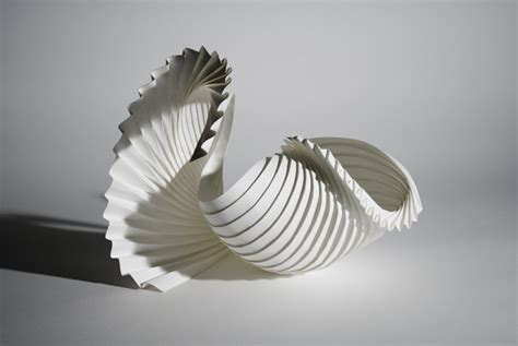 Folded Paper Sculpture - way wac wa richard sweeney s paper folding sculptures