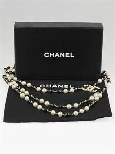 A Black And White Affair At Chanel Jewelry Of Diamonds by Chanel Black And White Beaded Chain Cc Necklace