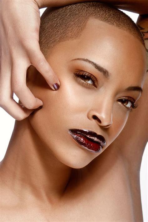 beautiful black women bald haircuts 73 best beautiful bald women images on pinterest short