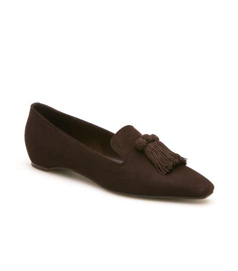 stuart weitzman loafer stuart weitzman the tasstrio loafer in brown cola suede