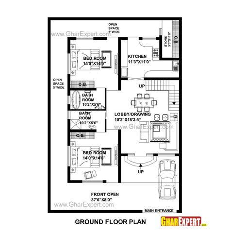 home design for 30x60 plot home plot plan house design ideas