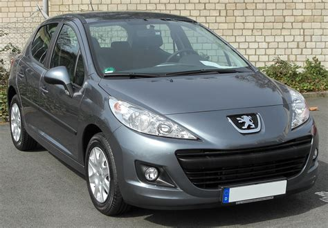 Grey Peugeot 207 Front View Car Pictures Images