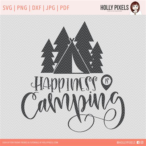 Camping And Adventure SVG Bundle for Cricut by Holly Pixels