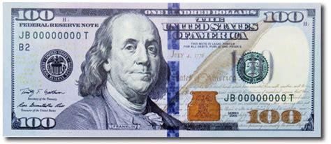 Design Programs Online 100 bill front the financial brand