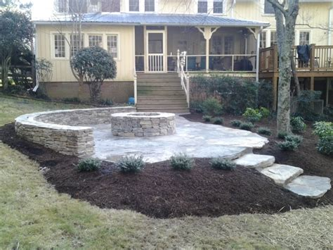 outdoor sitting area outdoor seating areas tryon and landrum landscaping