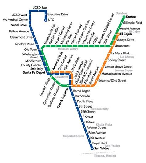 san diego trolley map trolley lrt